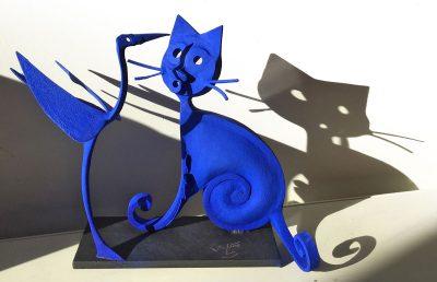 Chat et oiseau bleu - Eric Valat