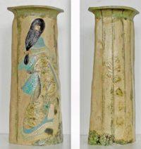 Grand vase - Courtisane de dos - Travail sur plaques - Claude Agier-Mollinari