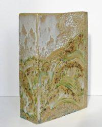 Vase rectangulaire - Rêverie entre terre et mer - Claude Agier-Mollinari