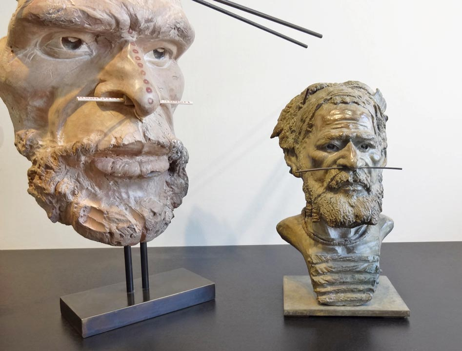 Papou - bois et bronze - Jean-Paul Mestres
