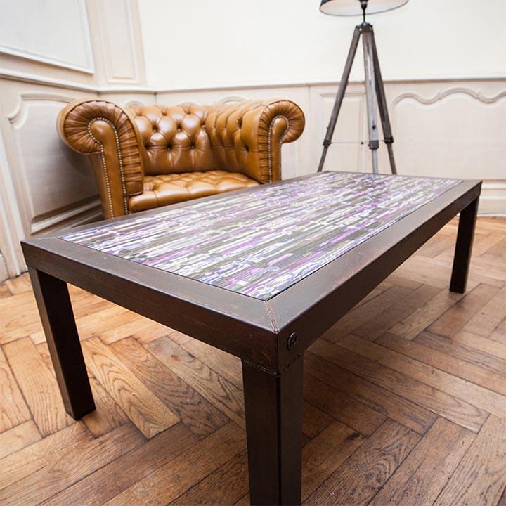 Table basse marqueterie - Jean-Baptiste Saint-Criq